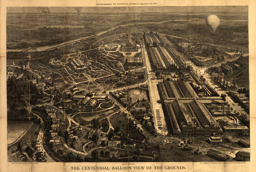 Aerial View Of The 1876 Centennial Exhibition